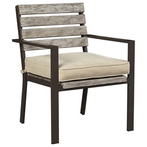 Signature Design by Ashley Peachstone Set of 2 Outdoor Chairs with Cushion