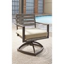Signature Design by Ashley Peachstone Set of 2 Outdoor Swivel Chairs w/ Cushion