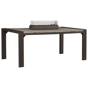 Signature Design by Ashley Peachstone Outdoor Dining Table w/ Fire Bowl