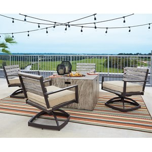 Signature Design by Ashley Peachstone 5-Piece Fire Pit Set