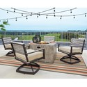 Signature Design by Ashley Peachstone 5-Piece Fire Pit Set - Item Number: P655-772+2x602A
