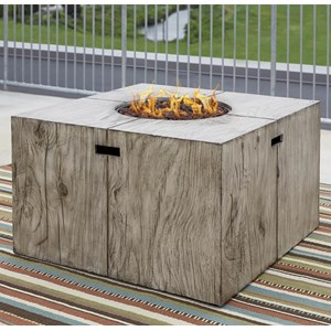 Signature Design by Ashley Peachstone Square Fire Pit Table