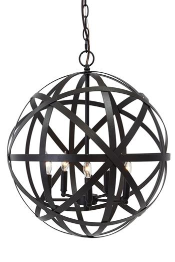 Signature Design by Ashley Pendant Lights Cade  Bronze Finish Metal Pendant Light - Item Number: L000008