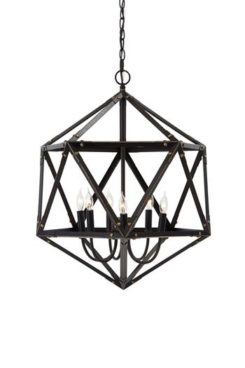 Signature Design by Ashley Pendant Lights Fadri Bronze Finish Metal Pendant Light - Item Number: L000038