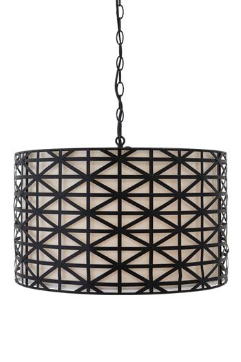 Signature Design by Ashley Pendant Lights Damali Black Metal Pendant Light  - Item Number: L000068