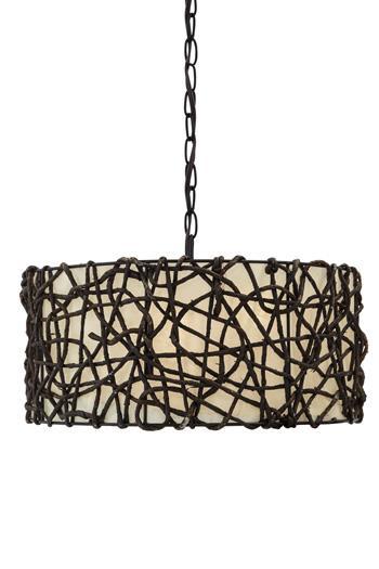 Signature Design by Ashley Pendant Lights Earleen Natural Pendant Light  - Item Number: L000088