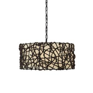 Signature Design by Ashley Pendant Lights Earleen Natural Pendant Light