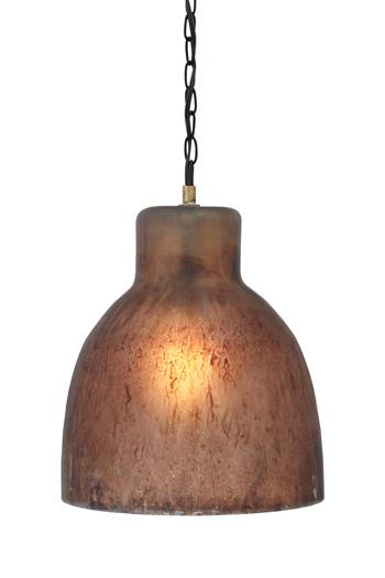 Signature Design by Ashley Pendant Lights Edalene Brown Glass Pendant Light  - Item Number: L000108