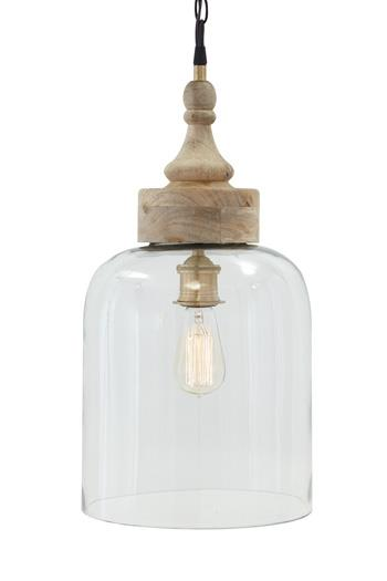 Signature Design by Ashley Pendant Lights Faiz Transparent Glass Pendant Light  - Item Number: L000148