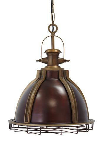 Signature Design by Ashley Pendant Lights Fanchon Brass Finish Metal Pendant Light - Item Number: L000168