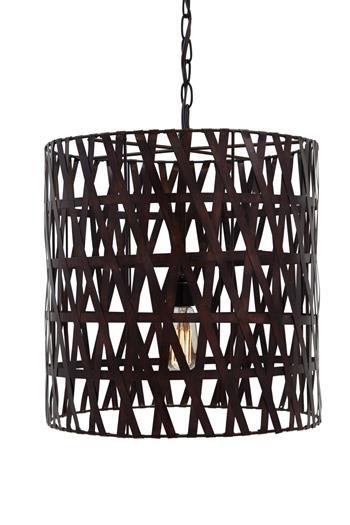 Signature Design by Ashley Pendant Lights Faolan Copper Finish Metal Pendant Light - Item Number: L000178
