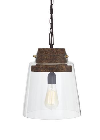 Signature Design by Ashley Pendant Lights Hakeem Clear/Brown Glass Pendant Light  - Item Number: L000218