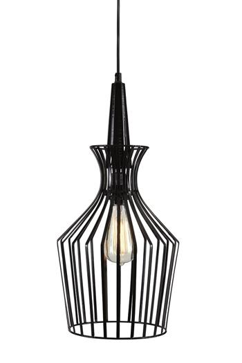 Signature Design by Ashley Pendant Lights Ichiro Black Metal Pendant Light  - Item Number: L000258