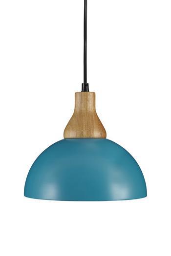 Signature Design by Ashley Pendant Lights Idania Teal Metal Pendant Light  - Item Number: L000298