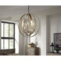 Signature Design by Ashley Pendant Lights Moshe Metal Silver Leaf Finish Pendant Light