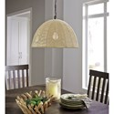 Signature Design by Ashley Pendant Lights Jovan Paper Rope Natural Pendant Light