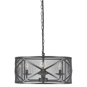 Signature Design by Ashley Pendant Lights Jovani Charcoal Metal Pendant Light