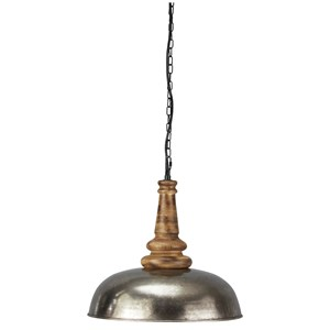 Joziah Antique Silver Metal Pendant Light