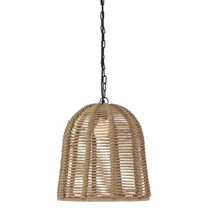 Signature Design by Ashley Pendant Lights Jamarion Natural Rope Pedant Light