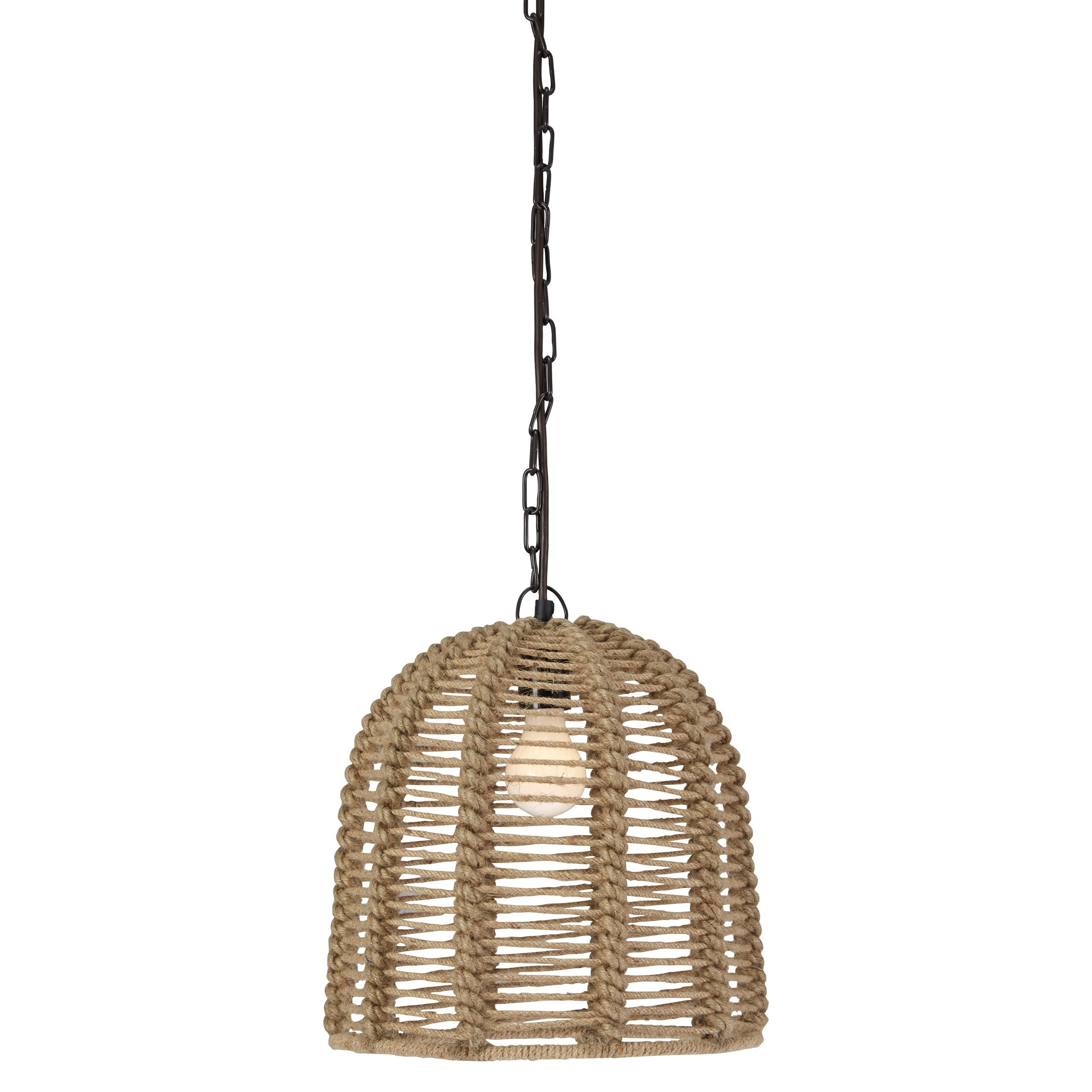 Signature Design by Ashley Pendant Lights Jamarion Natural Rope Pedant Light - Item Number: L000388