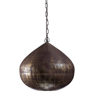 Signature Design by Ashley Pendant Lights Aminali Antique Brass Finish Metal Pendant