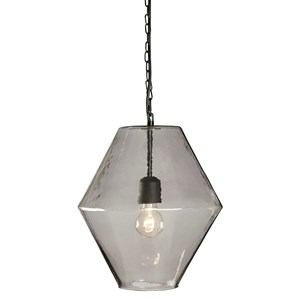 Signature Design by Ashley Pendant Lights Daquan Purple Glass Pendant Light