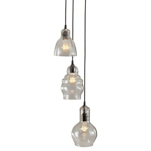 Signature Design by Ashley Pendant Lights Aldelphia Clear Glass Pendant Light