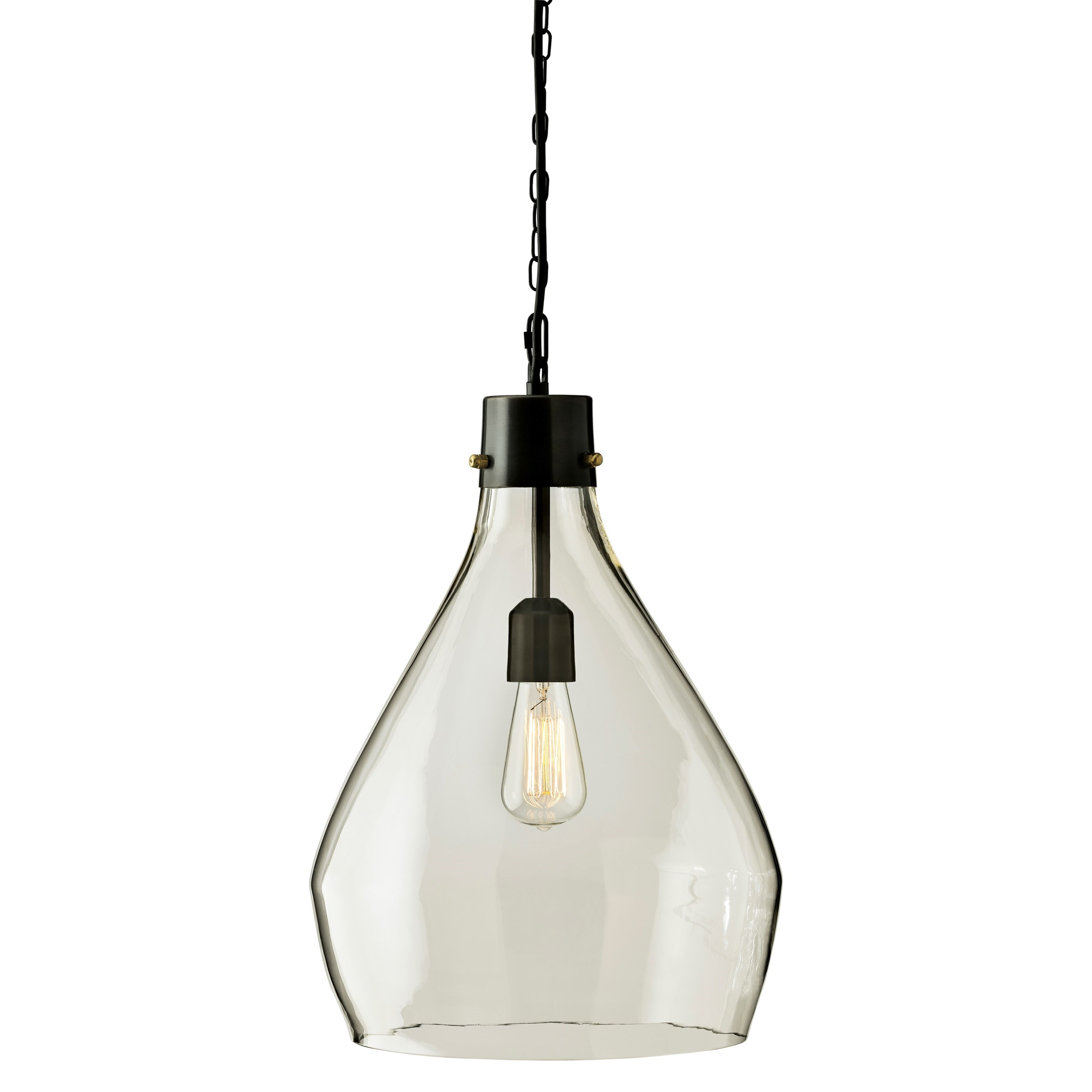 Signature Design by Ashley Pendant Lights Avalbane Clear/Gray Glass Pendant Light - Item Number: L000468