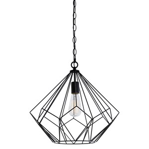Signature Design by Ashley Pendant Lights Mikndaro Black Metal Pendant Light