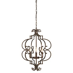 Signature Design by Ashley Pendant Lights Kanab Copper Finish Metal Pendant Light
