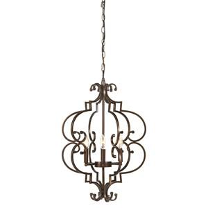 Ashley Signature Design Pendant Lights Kanab Copper Finish Metal Pendant Light