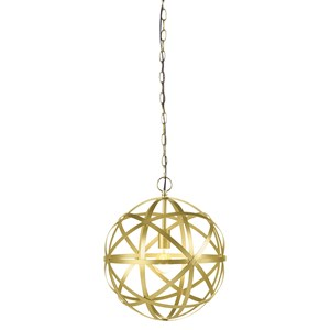 Signature Design by Ashley Pendant Lights Jedidiah Gold Finish Metal Pendant Light