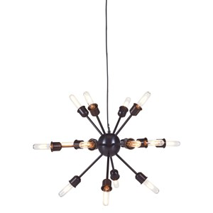 Signature Design by Ashley Pendant Lights Jesenia Black/Nickel Metal Pendant Light