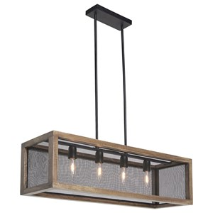 Signature Design by Ashley Pendant Lights Jodene Brown/Black Wood Pendant Light