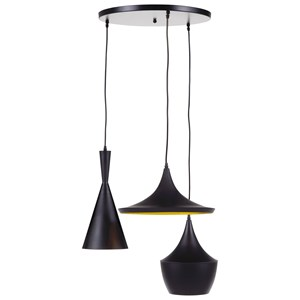 Signature Design by Ashley Pendant Lights Jolanta Black/Gold Metal Pendant Light