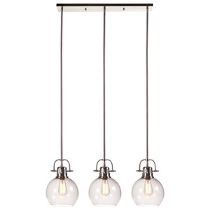 Signature Design by Ashley Pendant Lights Johano Gray Glass Pendant Light