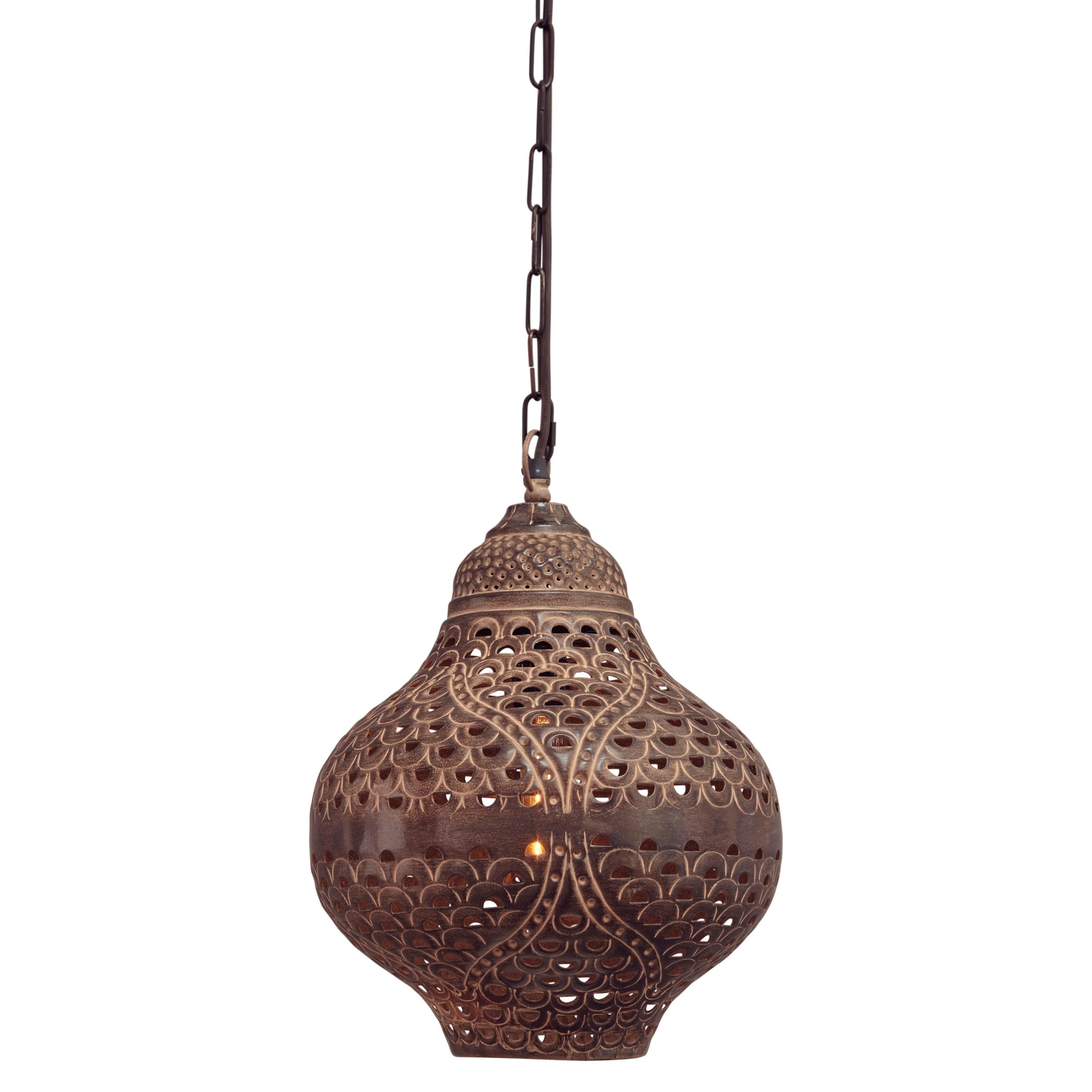 Signature Design by Ashley Pendant Lights Jonelle Antique Brown Metal Pendant Light - Item Number: L000628