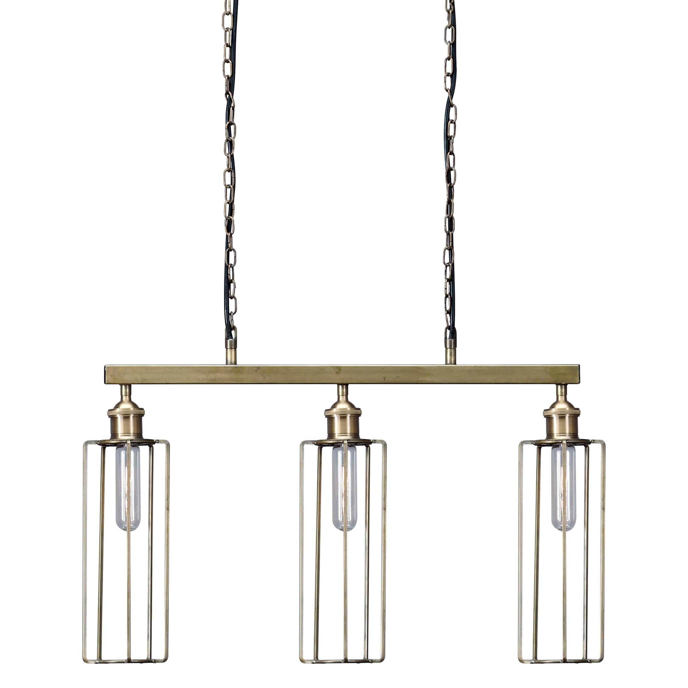 Signature Design by Ashley Pendant Lights Hilary Brass Finish Metal Pendant Light - Item Number: L000738