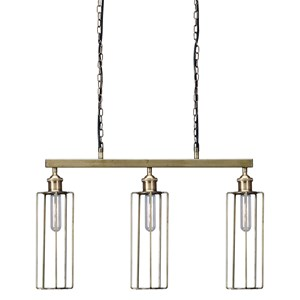 Signature Design by Ashley Pendant Lights Hilary Brass Finish Metal Pendant Light