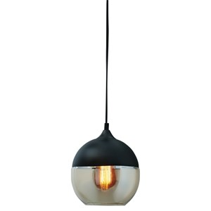 Williamina Black/Glass Pendant Light