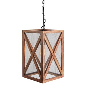 Signature Design by Ashley Pendant Lights Jodene Brown Wood Pendant Light