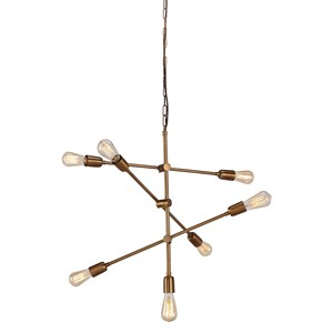 Signature Design by Ashley Pendant Lights Nastalya Gold Finish Metal Pendant Light