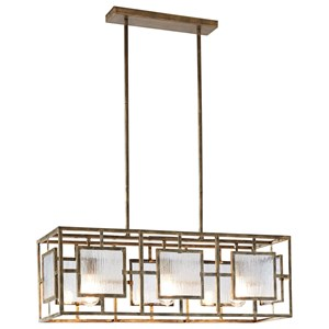 Parcey Antique Gold Metal Pendant Light
