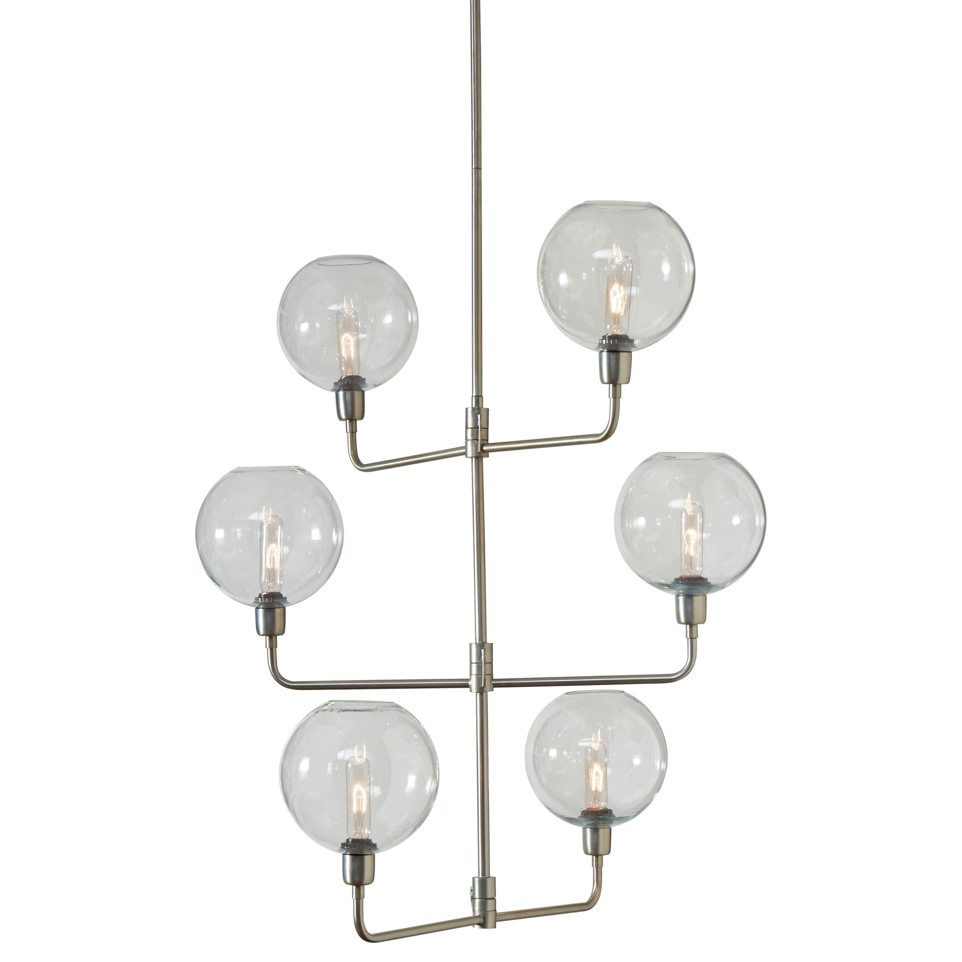 Merton Silver Finish Metal Pendant Lamp