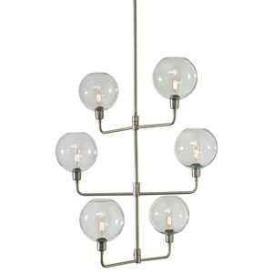 Merton Silver Finish Metal Pendant Lamp