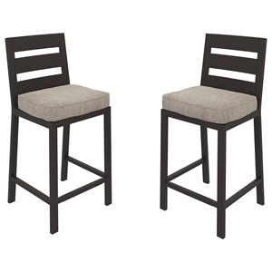 Set of 2 Barstools with Cushion