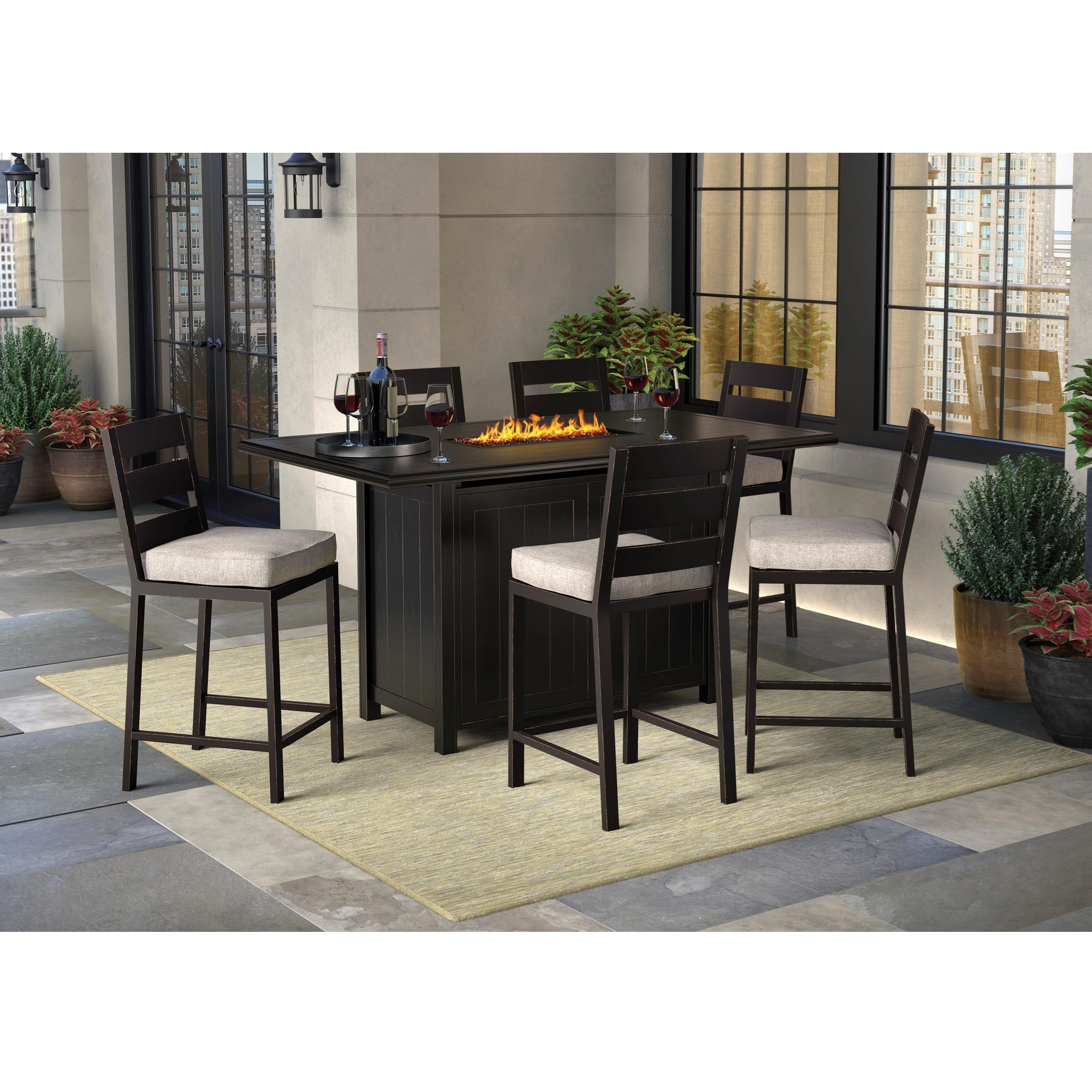 Signature Design By Ashley Perrymount 7 Piece Pub Dining