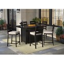 Signature Design by Ashley Perrymount 7 Piece Pub Dining Set - Item Number: P539-665+3x130
