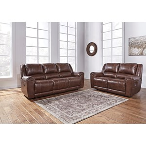 Signature Design by Ashley Persiphone Reclining Living Room Group