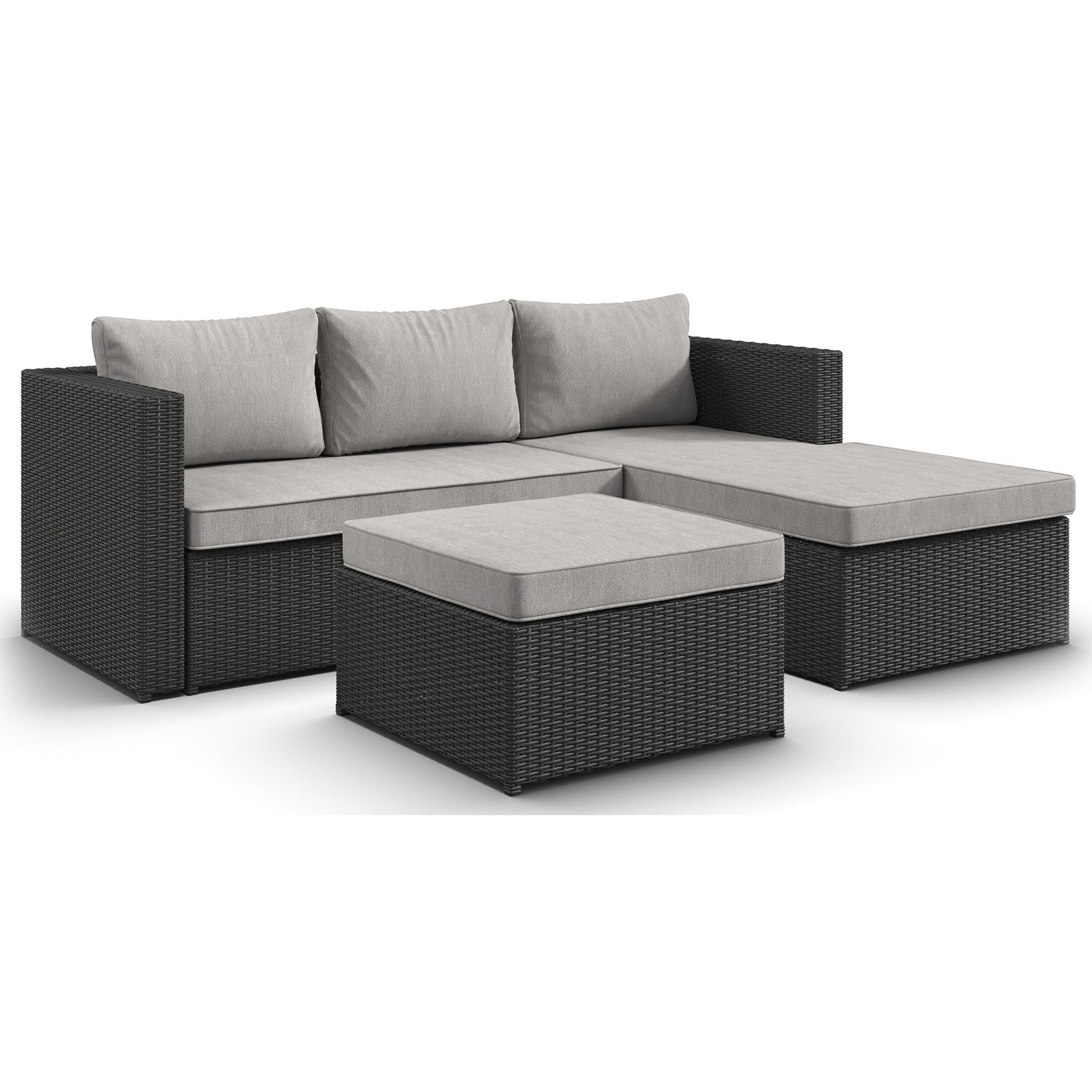 Signature Design by Ashley Pheasant Trail 3 Piece Outdoor Sectional Set - Item Number: P298-070